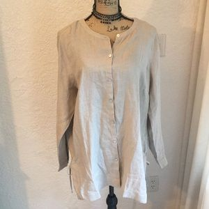 Linen Button Down Tunic